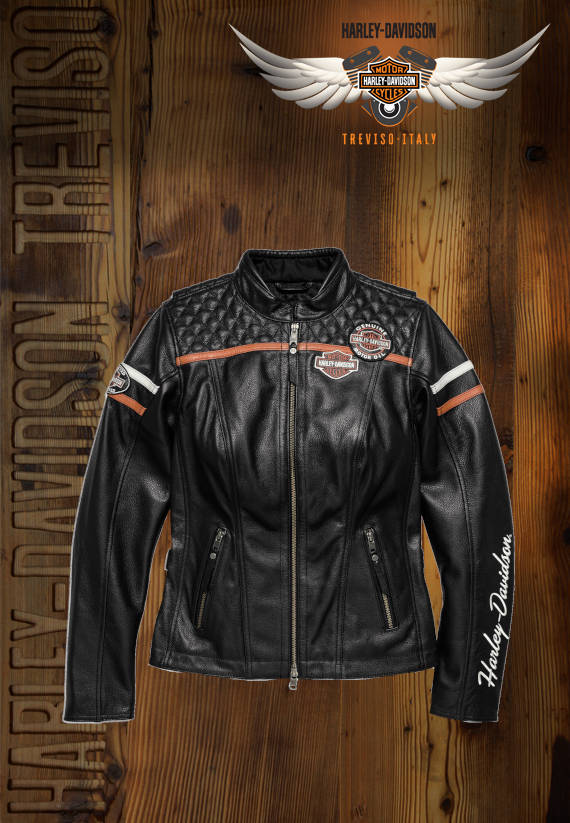 GIACCA HARLEY-DAVIDSON IN PELLE MISS ENTHUSIASTIC