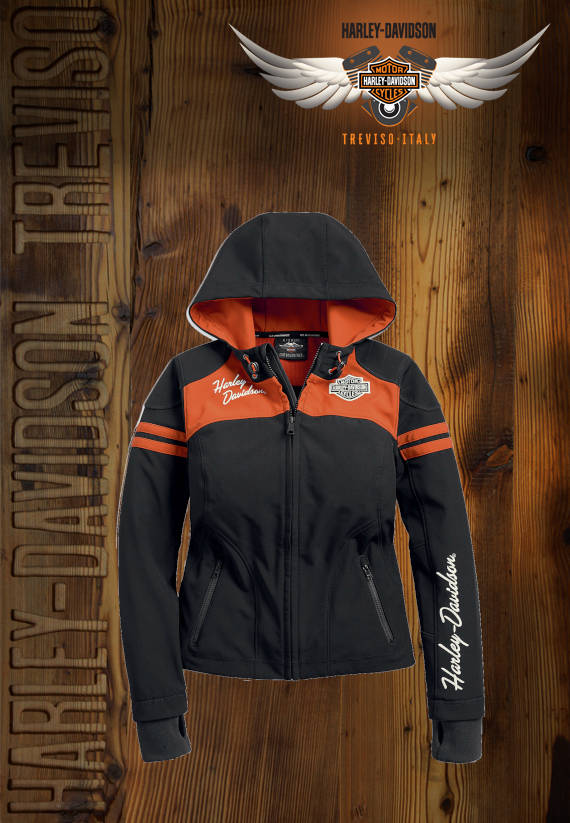 GIACCA HARLEY-DAVIDSON MISS ENTHUSIAST SOFT SHELL JACKET