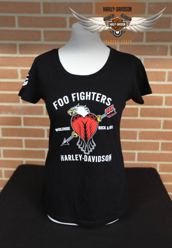 T-SHIRT FOO FIGHTERS ROCK N ROLL BLACK