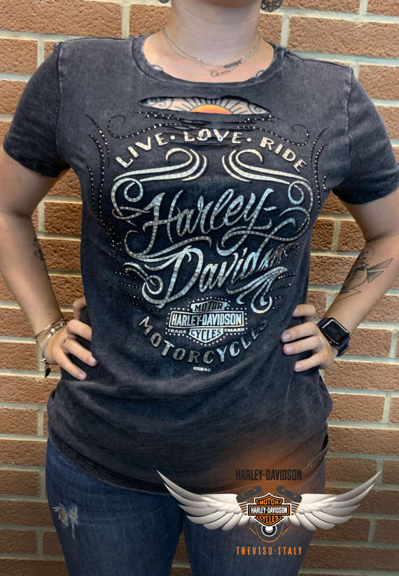 T-SHIRT HARLEY-DAVIDSON GROOVE DYED