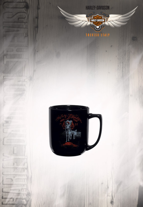 Tazza harley davidson skeleton ceramic mug for Gadget per la casa
