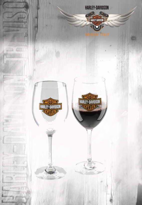 SET DUE CALICI DA VINO HARLEY-DAVIDSON
