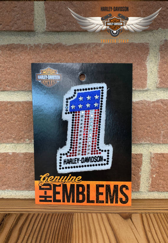PATCH HARLEY-DAVIDSON N°1 CON BRILLANTINI