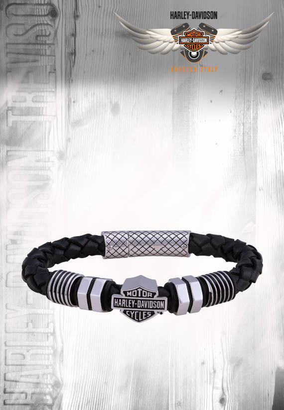 BRACCIALE HARLEY-DAVIDSON NUT AND BOLT IN PELLE - 8