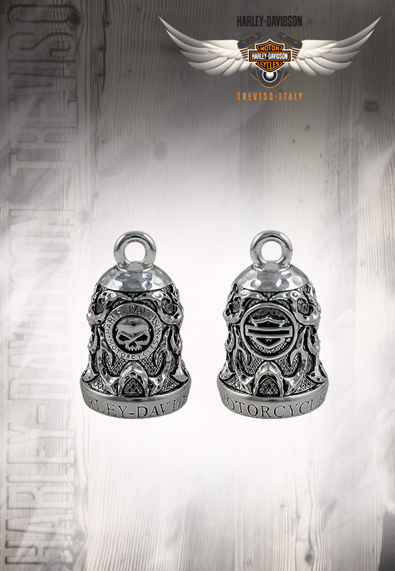 RING BELL SKULL & TRIBAL FLAME