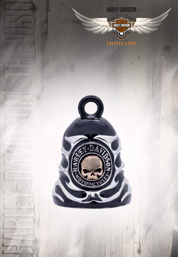 RING BELL SILVER AND BLACK