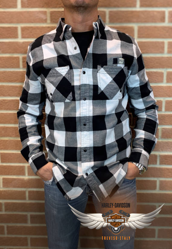 CAMICIA HARLEY-DAVIDSON BUFFALO PLAID SLIM FIT SHIRT
