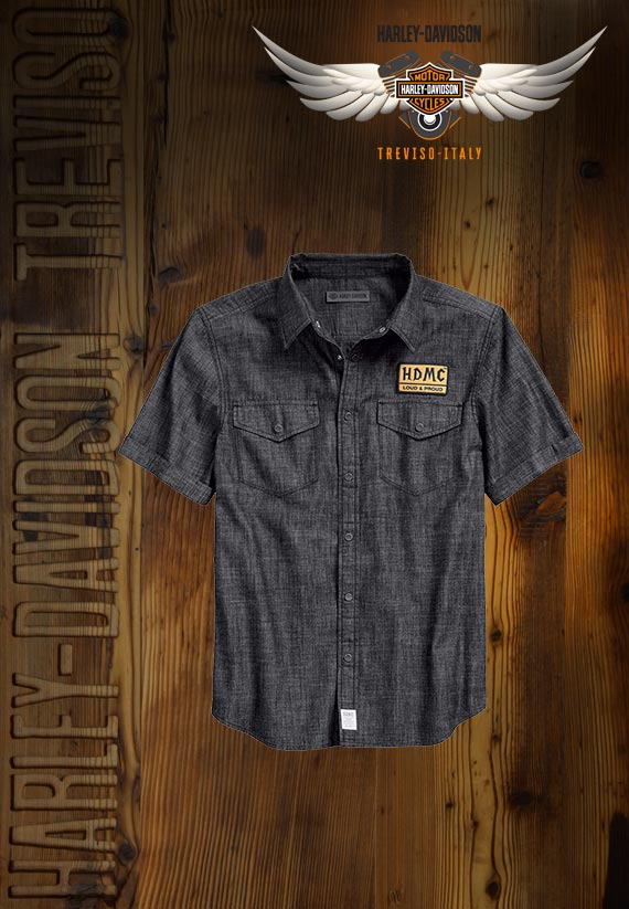 Camicia Harley-Davidson Denim Slim Fit