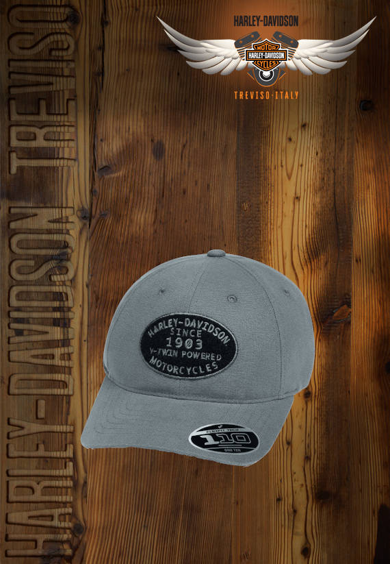 CAPPELLO HARLEY-DAVIDSON V-TWIN POWERED ADJUSTABLE CAP