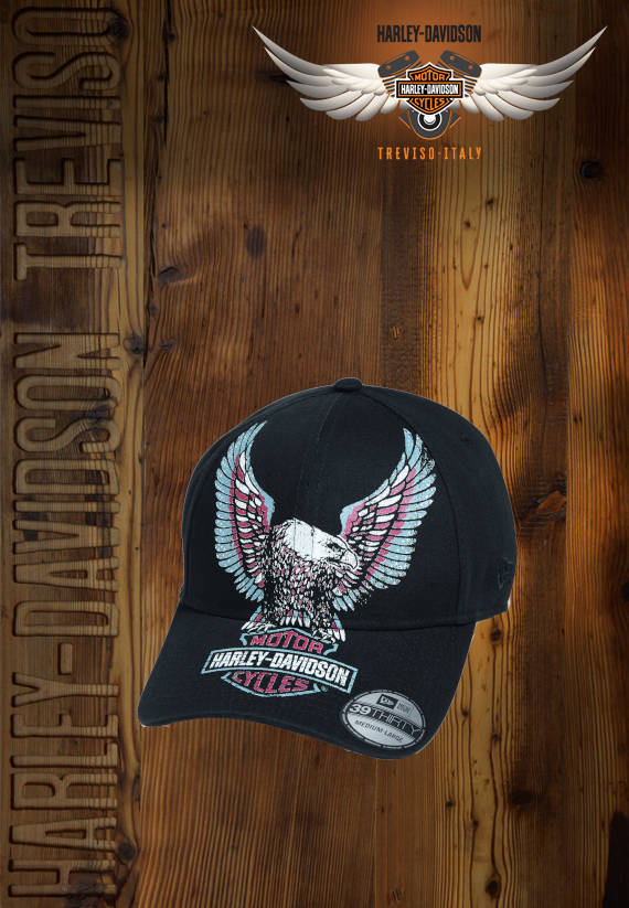 CAPPELLO HARLEY-DAVIDSON PRINTED UPRIGHT EAGLE 39THIRTY CAP
