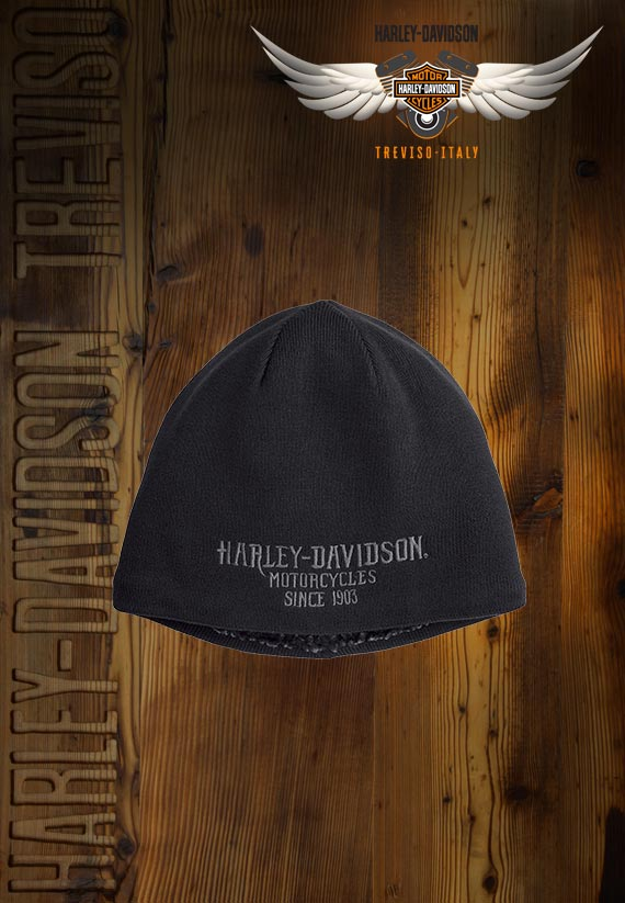 Berretto Harley-Davidson Sherpa Fleece Lined Knit Hat