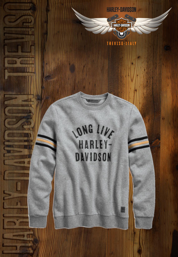 FELPA HARLEY-DAVIDSON LONG LIVE SLIM FIT
