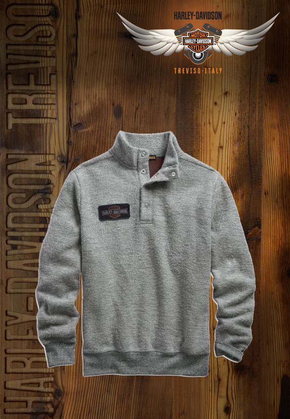 FELPA HARLEY-DAVIDSON 1/4-ZIP SLIM FIT MOCKNECK SWEATER