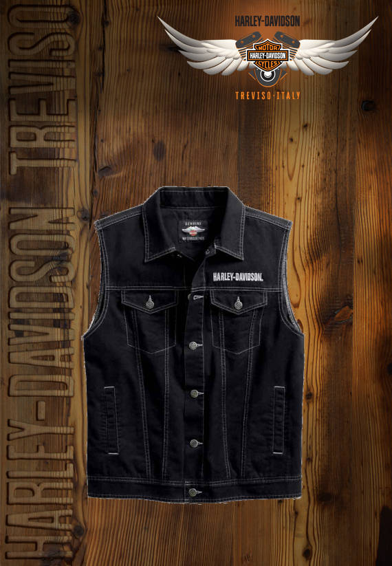 GILET HARLEY-DAVIDSON UPRIGHT EAGLE DENIM