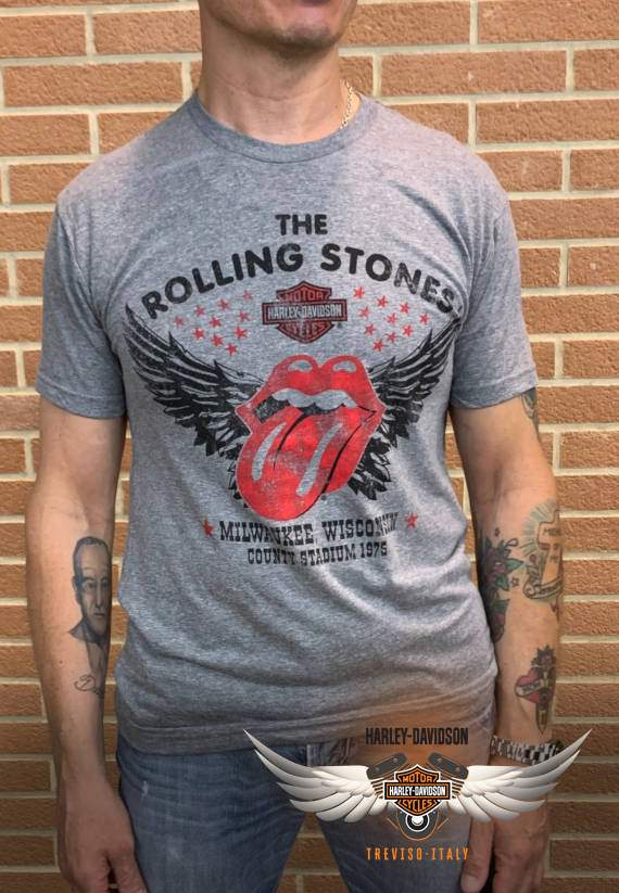 T-SHIRT ROLLING STONES HD WINGED