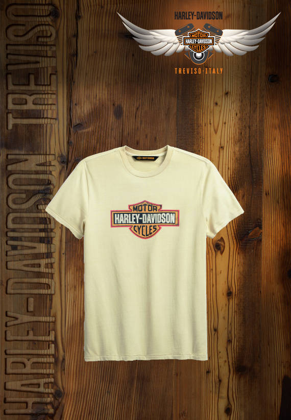 T-SHIRT HARLEY-DAVIDSON CRACKLE LOGO SLIM FIT TEE