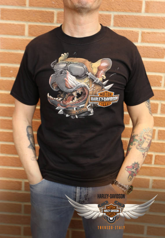 T-SHIRT HARLEY-DAVIDSON DOG GONE