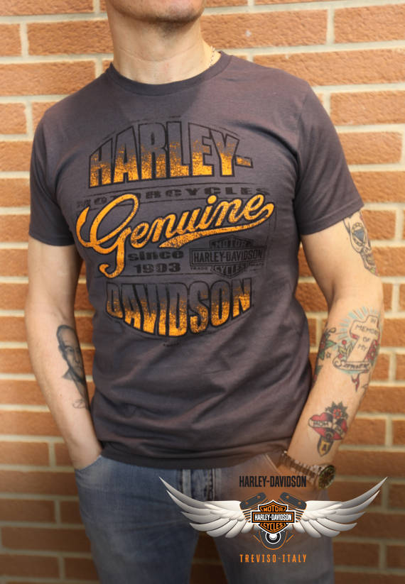 T-SHIRT HARLEY-DAVIDSON WORN GENUINE