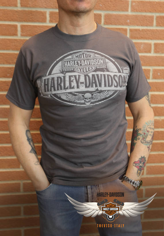 T-SHIRT HARLEY-DAVIDSON SCHOOL SHIELD
