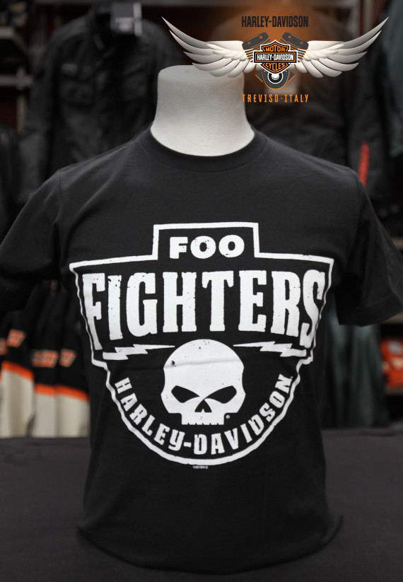 T-SHIRT FOO FIGHTERS PATCH ON COAL